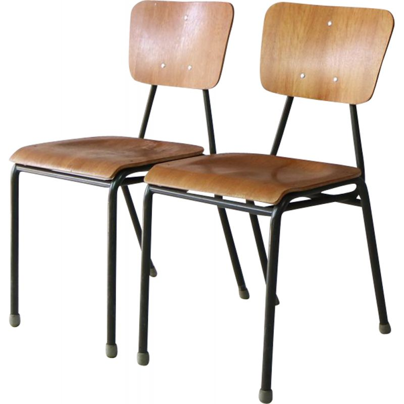 Vintage danish stacking chair in bentwood 1960