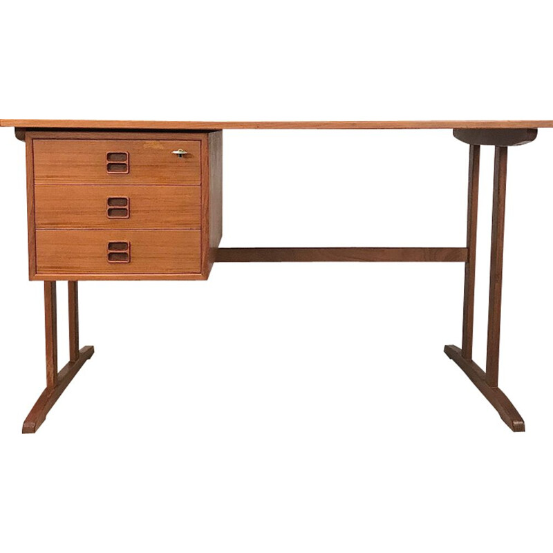 Vintage teak desk by Arne Vodder 1960s