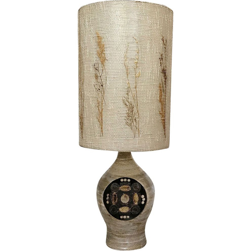 French ceramic table lamp by Georges Pelletier