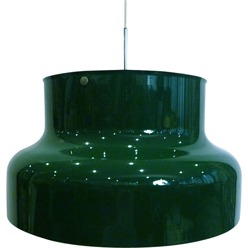 Green pendant lamp in aluminium by Anders Pehrson for Ateljé Lyktan