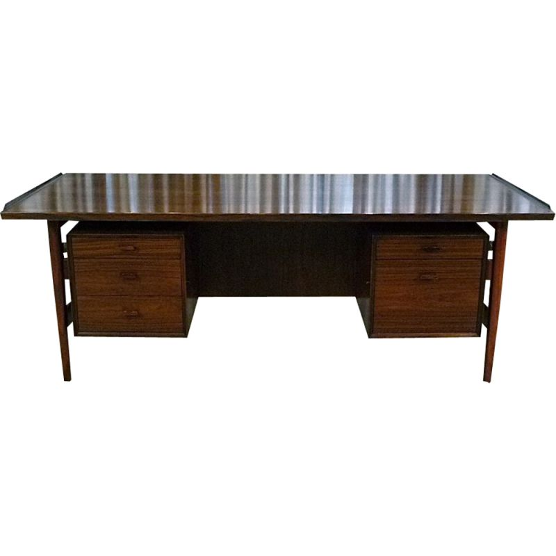 Vintage danish Executive Desk by Vodder for Sibast in rosewood 1960