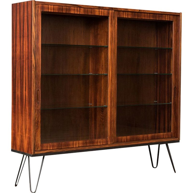 Vintage glass cabinet in rosewood by Poul Hundevad 1960s