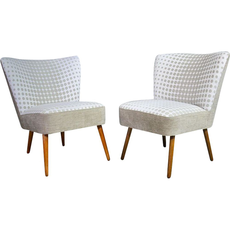 Set of 2 vintage cocktail chairs 1950