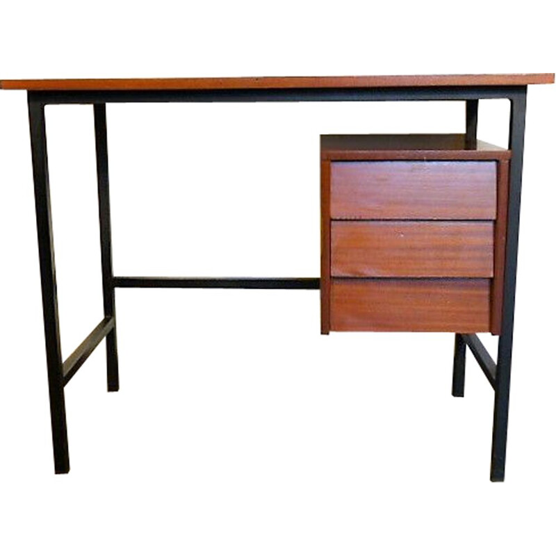Vintage modernista office in wood and metal 1960