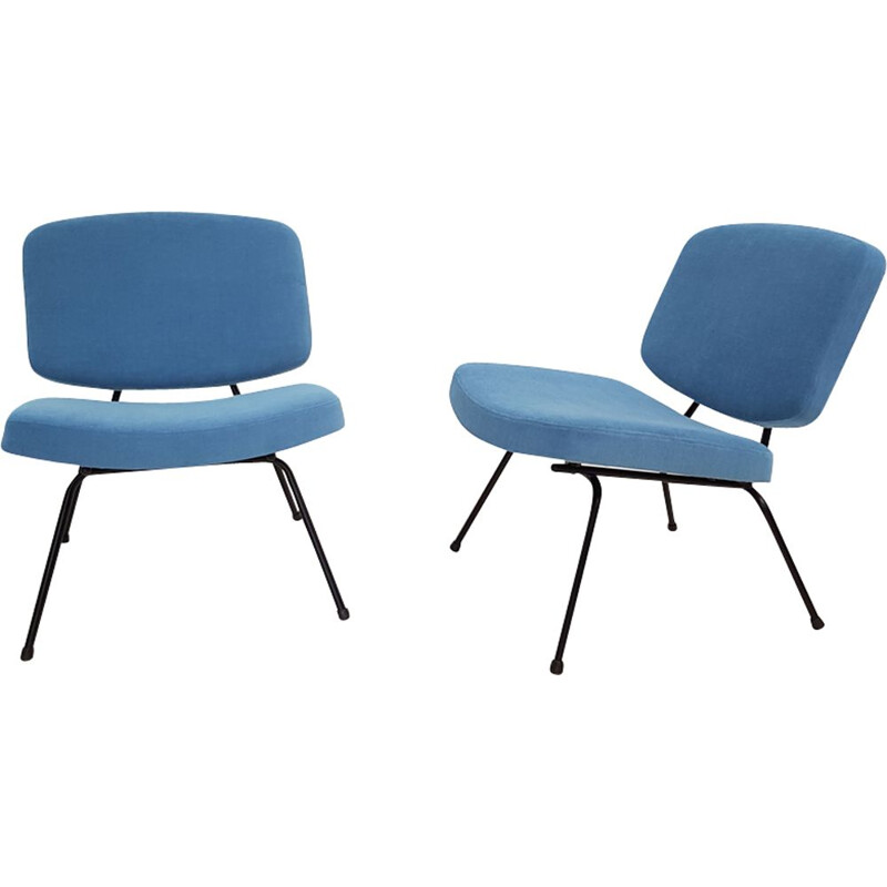 Pair of vintage chairs model 190 by Pierre Paulin for Thonet,1950