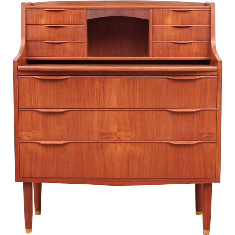 Vintage scandinavian secretary in teak from the 60s