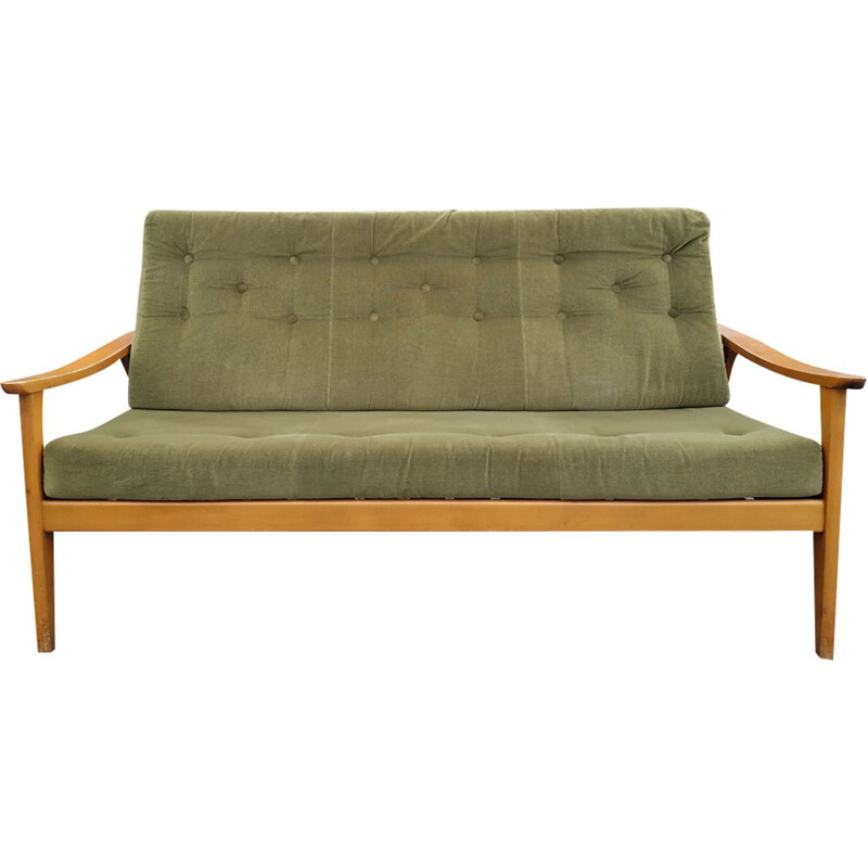 Vintage 3-seater sofa green Scandinavian 1960s