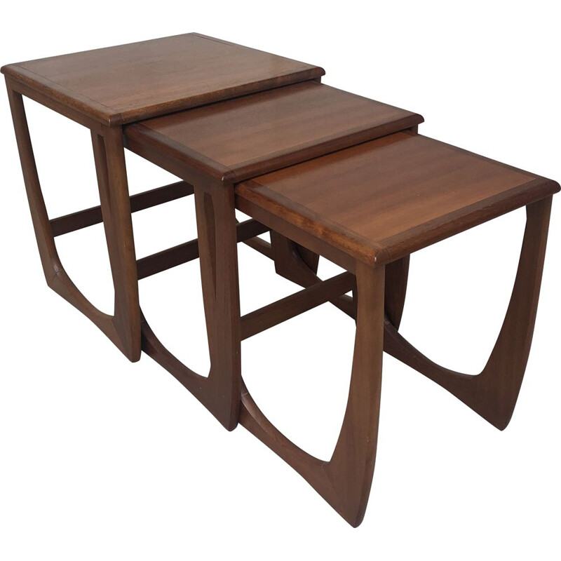 Vintage nesting tables in teak 1960s