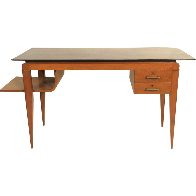 Vintage desk in mahogany by Maurice Rinck France 1950s