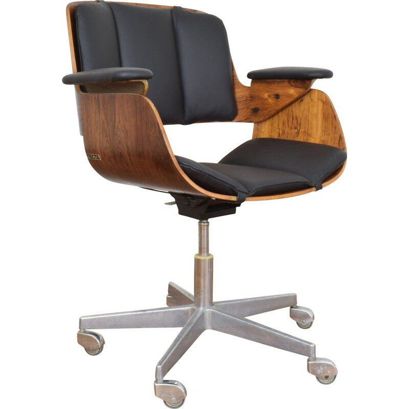 Vintage Rosewood Office Chair by Hans Könecke for Tecta 1954