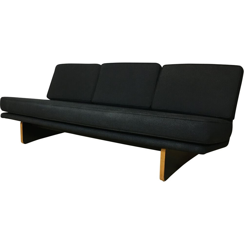 Vintage black 671 sofa by Kho Liang Ie for Artifort