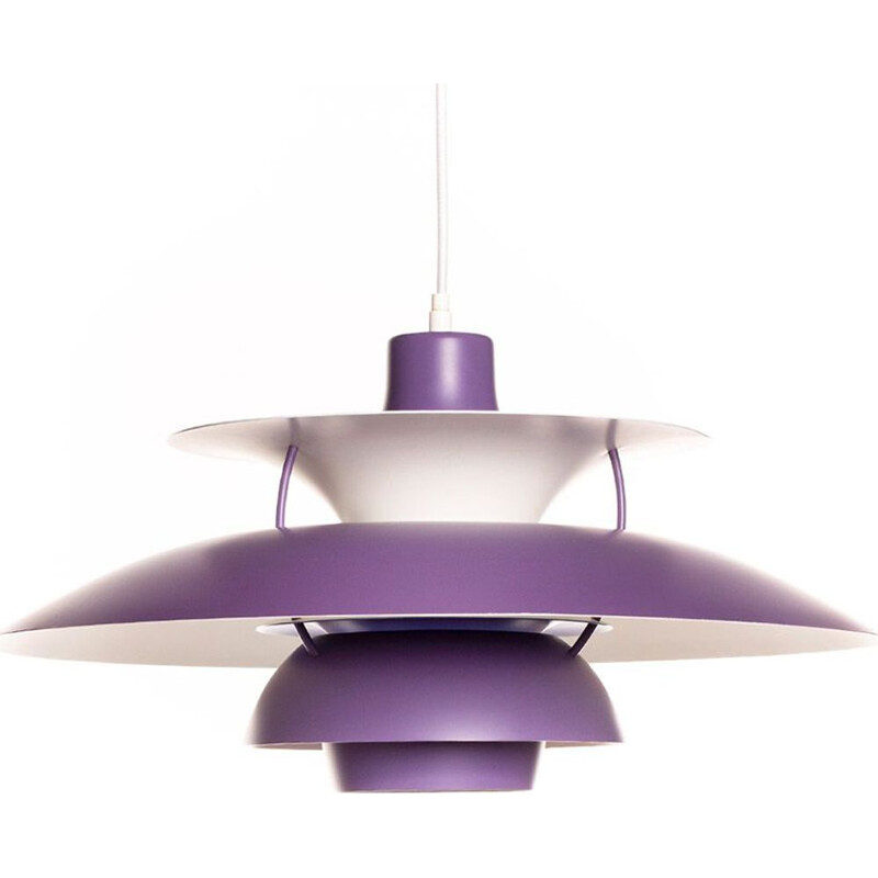 Vintage Purple PH5 Pendant Lamp by Poul Henningsen for Louis Poulsen 1960s