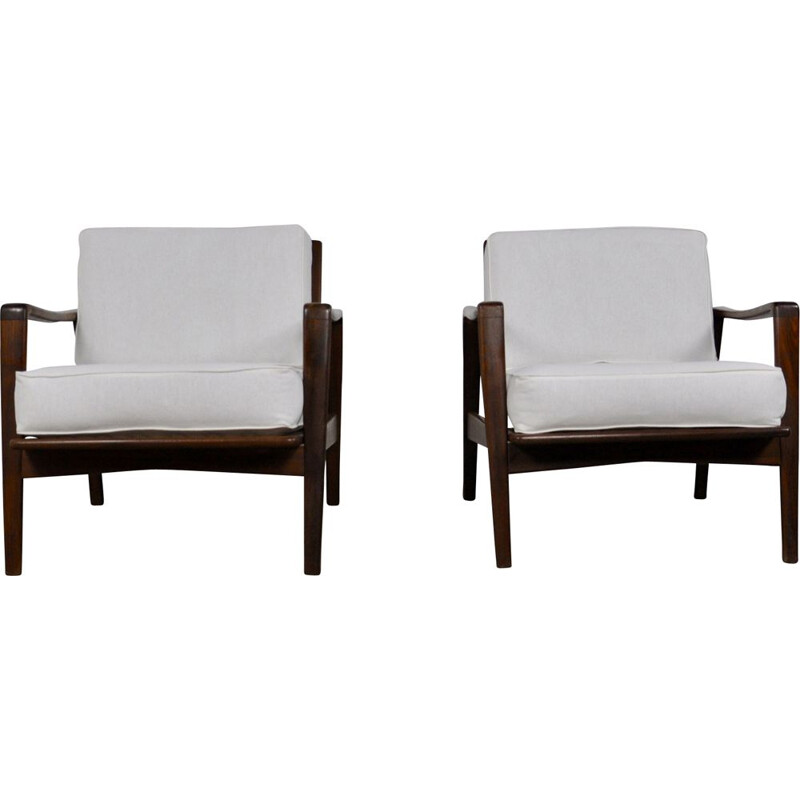 Set of 2 armchairs by ARNE WAHL IVERSEN for KOMFORT 1950S