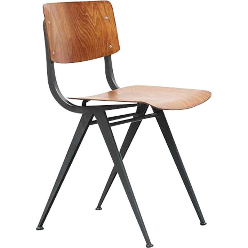 Vintage chair for Marko Holland in plywood and steel 1960