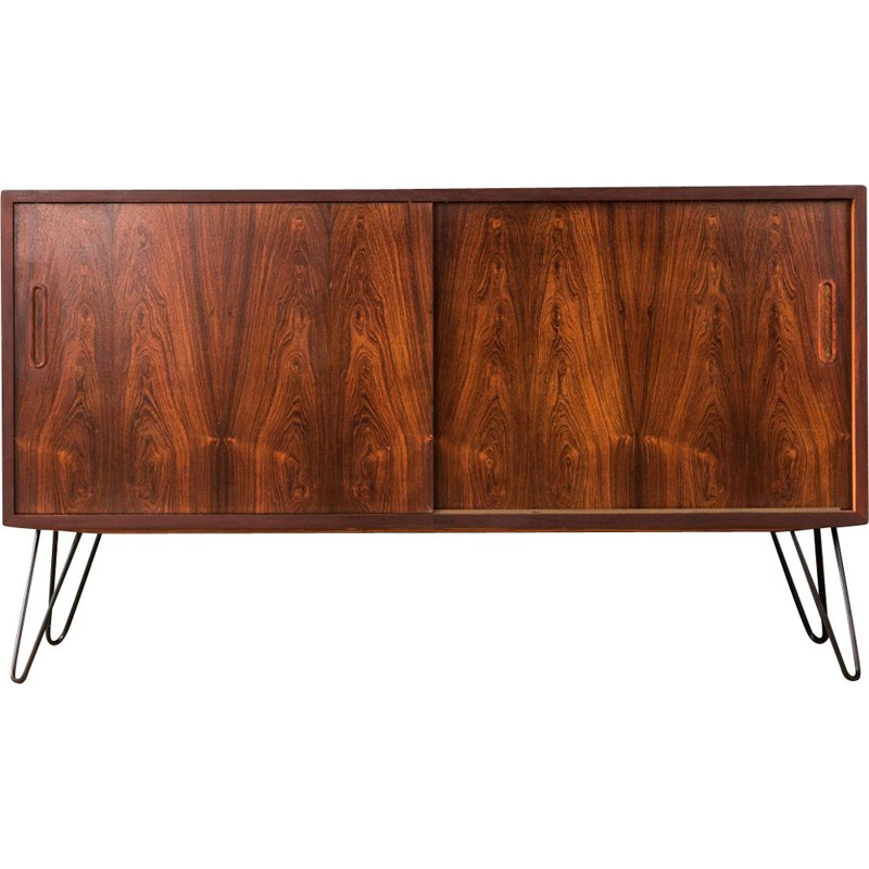 Vintage sideboard for Poul Hundevad in steel and rosewood 1960