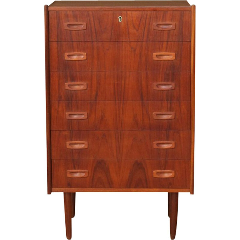 Vintage chest of drawers in teak 1960s Denmark