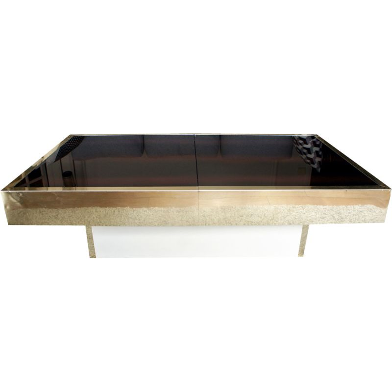 Vintage coffee table in brass and glass, France 1970s