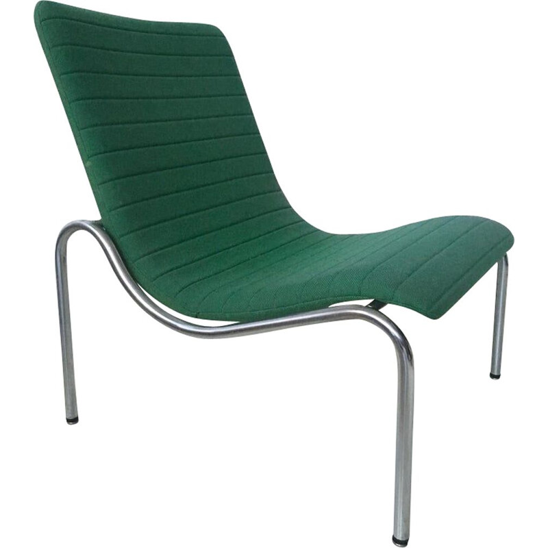 Vintage Green Tubular armchair model 703 by Kho Liang Ie for Stabin Holland  1968