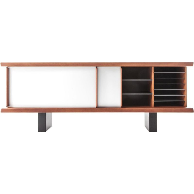 """RIFLESSO"" furniture, mahogany, Charlotte Perriand for CASSINA"