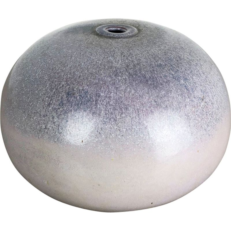 Vintage vase for Wolfgang Meer in purple and white ceramic 1980