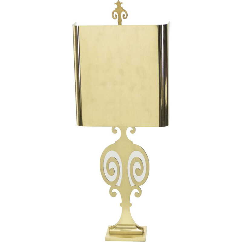 Vintage lamp for Maison Charles in brass 1970