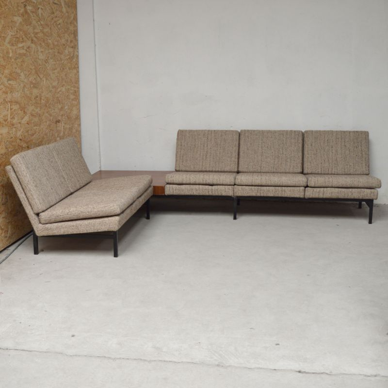 new styles 7601c 4edf3 Vintage modular corner lounge with 3-seater sofa, 2-seater sofa and corner  table,1960
