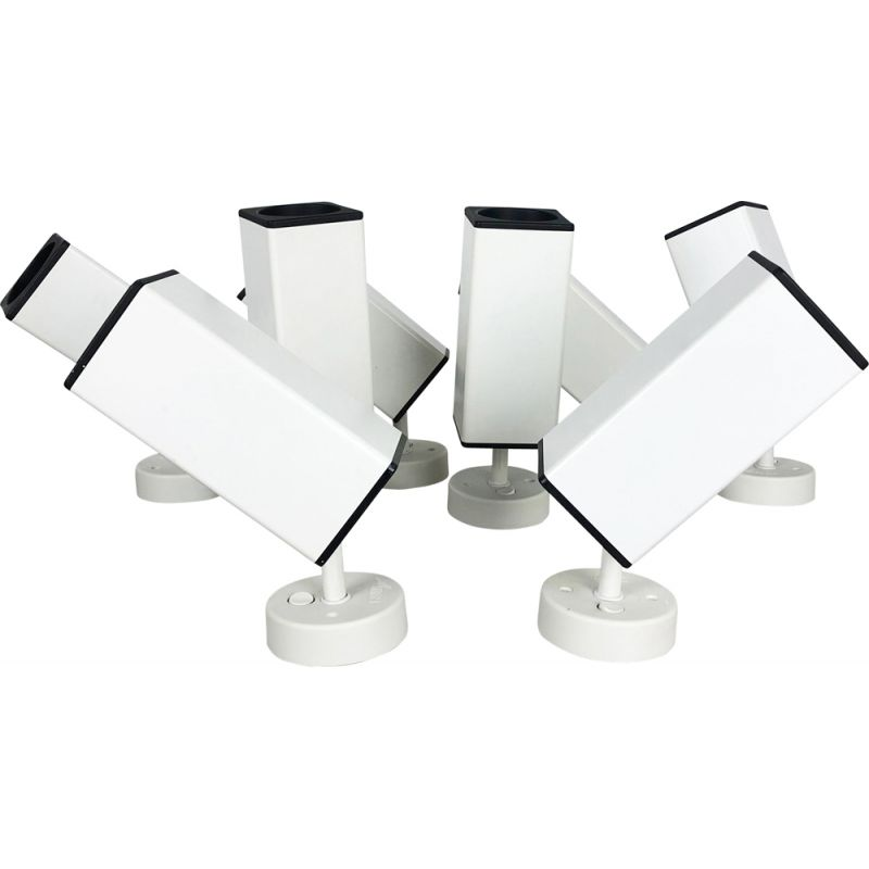 Set of 2 vintage modernist white wall lamp by Staff Lights