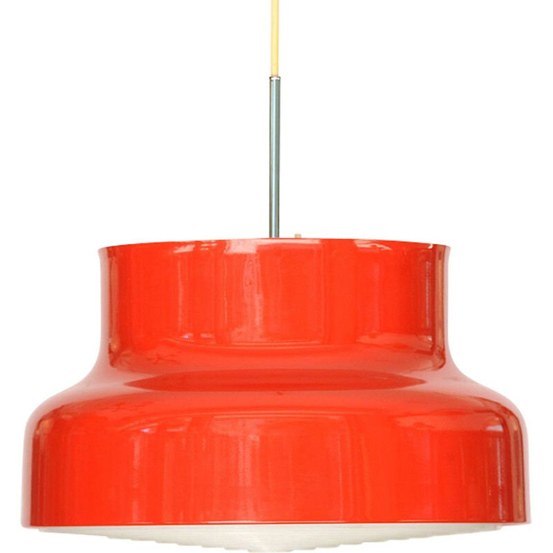 Vintage hanging lamp red Bumling by Anders Pehrson for Ateljé Lyktan Sweden 1960s