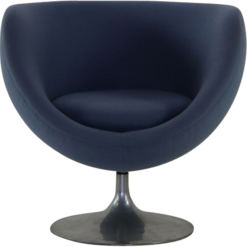 Vintage armchair Crocus Ball on Tulip base by Pierre Guariche for Meurop Belgium 1967