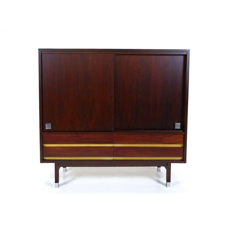 Vintage rosewood cabinet by Alfred Hendrickx 1960