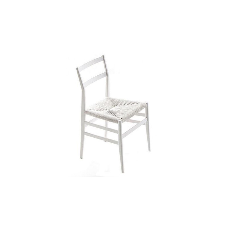"""LEGGERA"" chair, white ash, Gio Ponti for CASSINA"