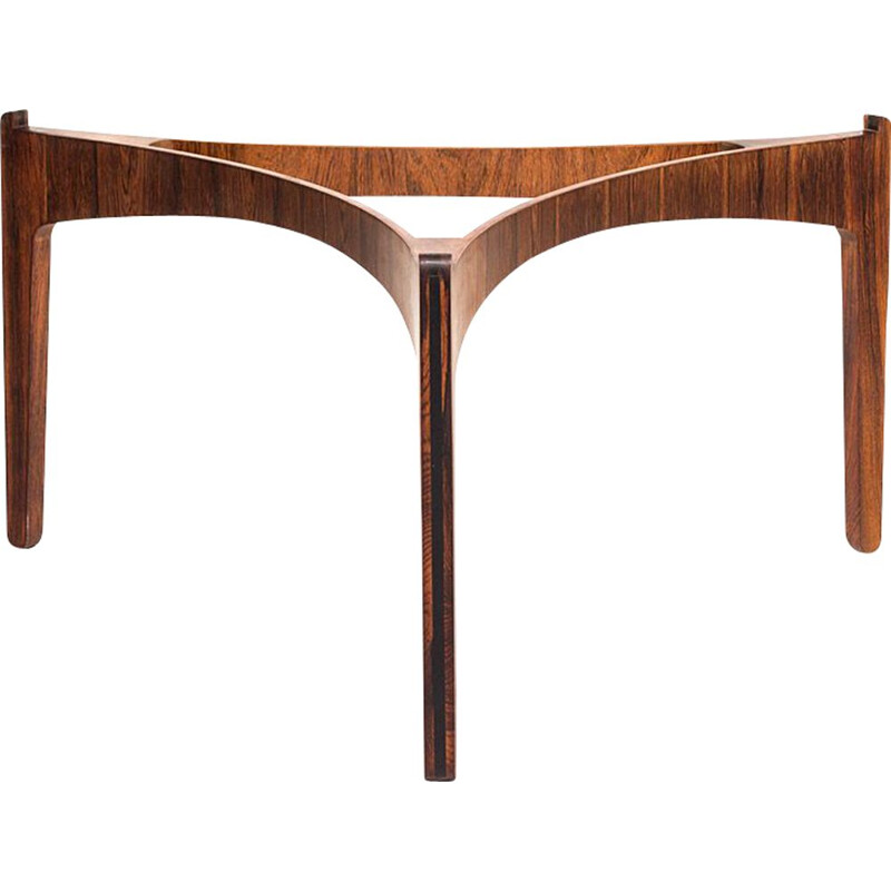 Vintage rosewood frame coffee table by Sven Ellekaer