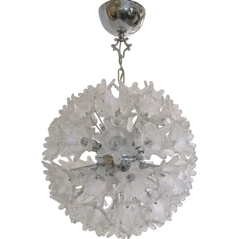 Sputnik silvered chandelier by Paolo Venini for VeArt