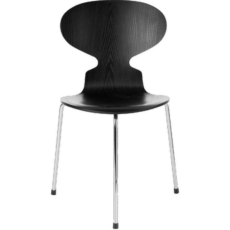 """Ant chair"" 3 feet and laquered oak by Arne Jacobsen for FRITZ HANSEN"