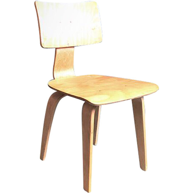 Vintage SB02 chair for Pastoe in plywood 1950