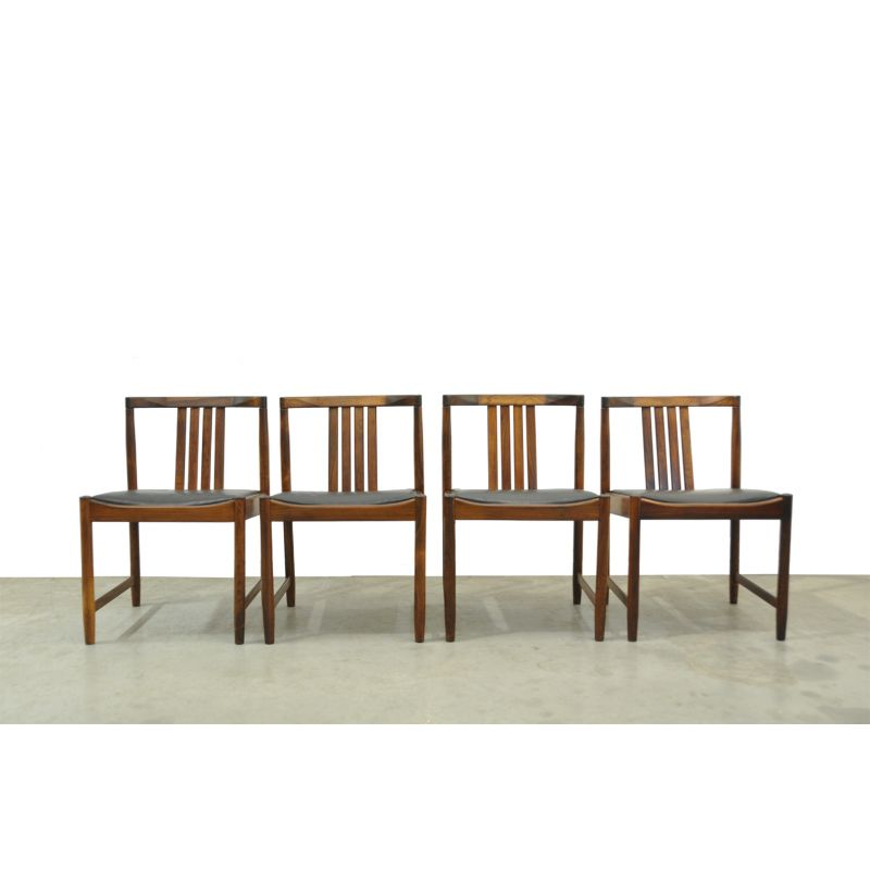 a48d453a71d8 Set of 4 vintage Scandinavian rosewood dining chairs from Iilum Wikkelso -  Design Market