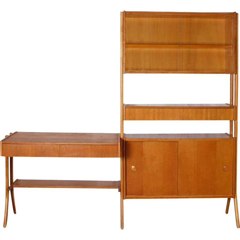 Vintage wall unit by Frantisek Jirak for Tatra Nabytok, 1960