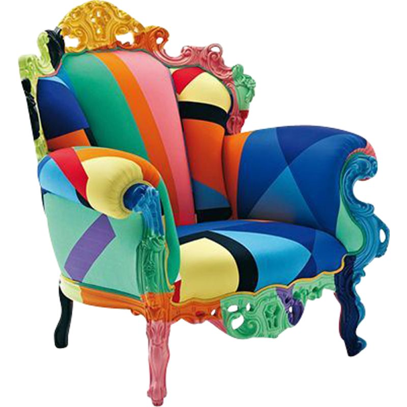 Proust geometrica armchair by Alessandro Mendini for CAPPELLINI