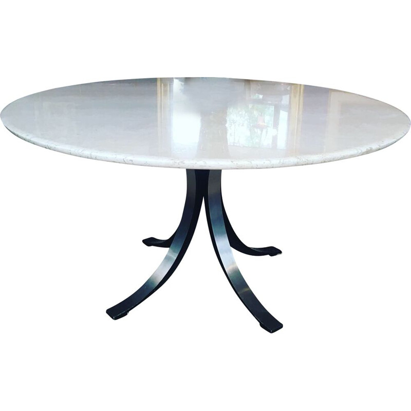 Vintage T69 marble round table by Osvaldo Borsani 1960
