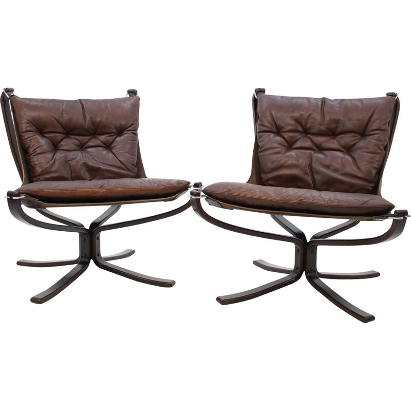 Pair of vintage chairs by Sigurd Ressell for Vatne Møbler, 1970