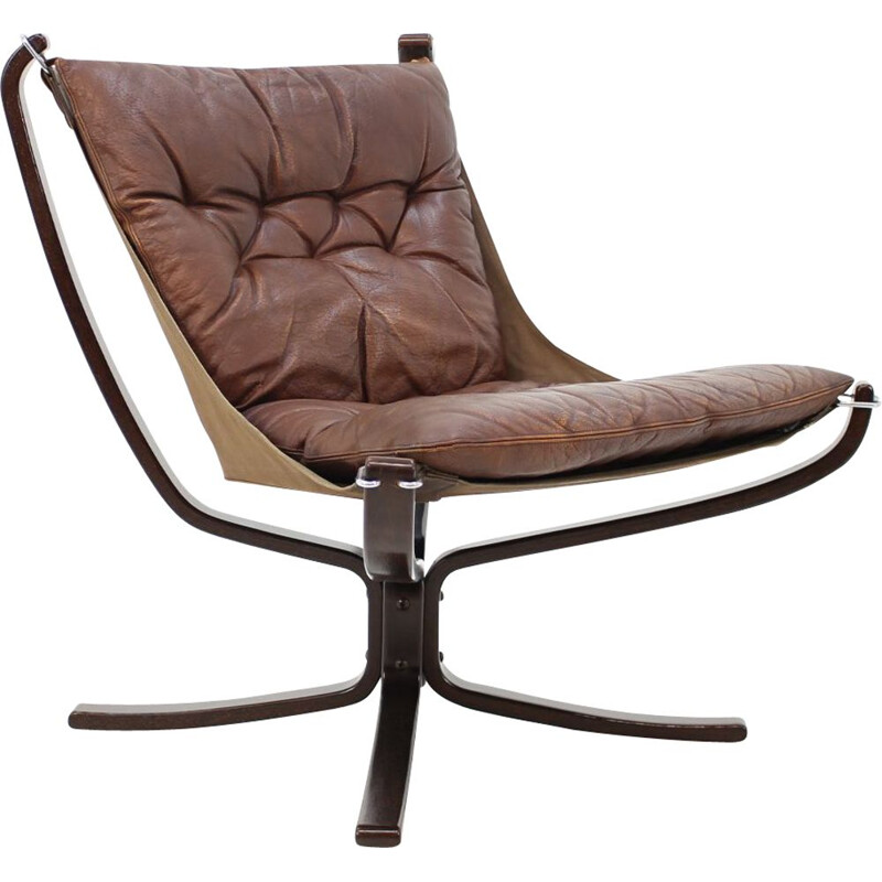 "Vintage ""Falcon"" chair by Sigurd Ressell for Vatne Møbler,1970"
