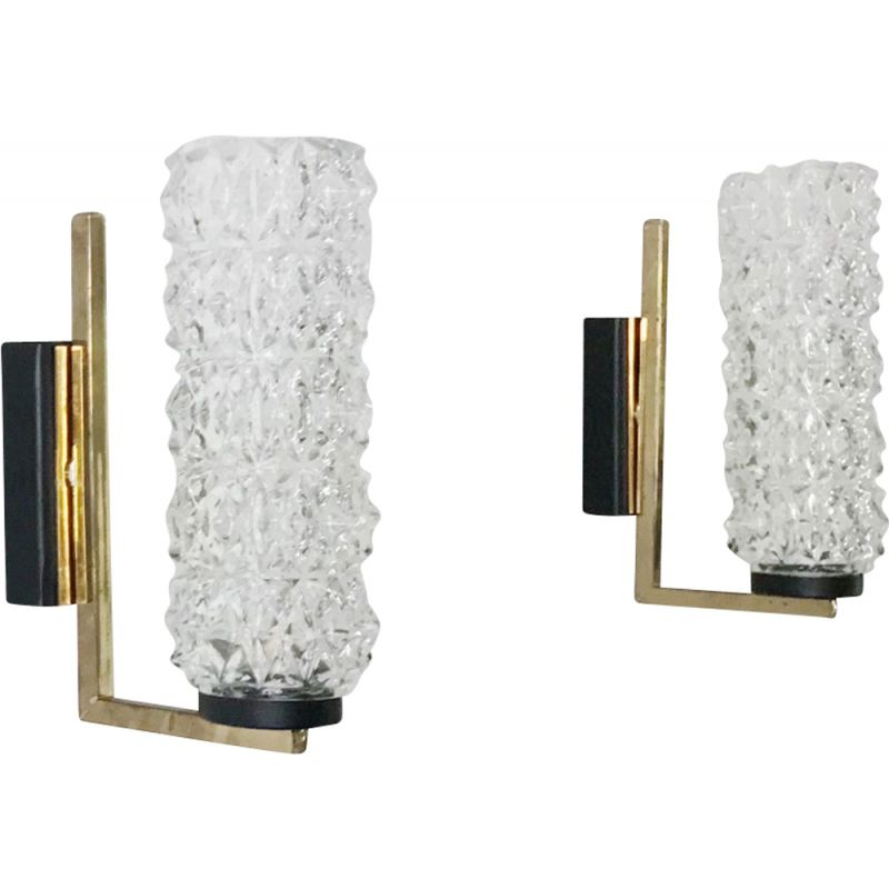 Vintage pair of wall lights by La Maison Arlus, 1950