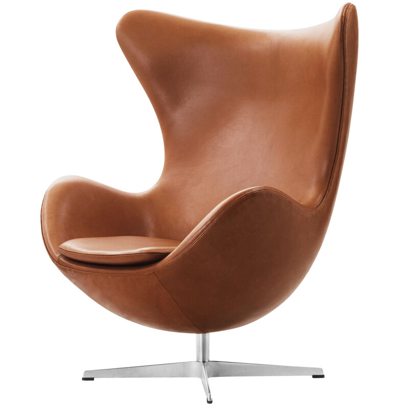 """Egg chair"", leather, by Arne Jacobsen for FRITZ HANSEN"