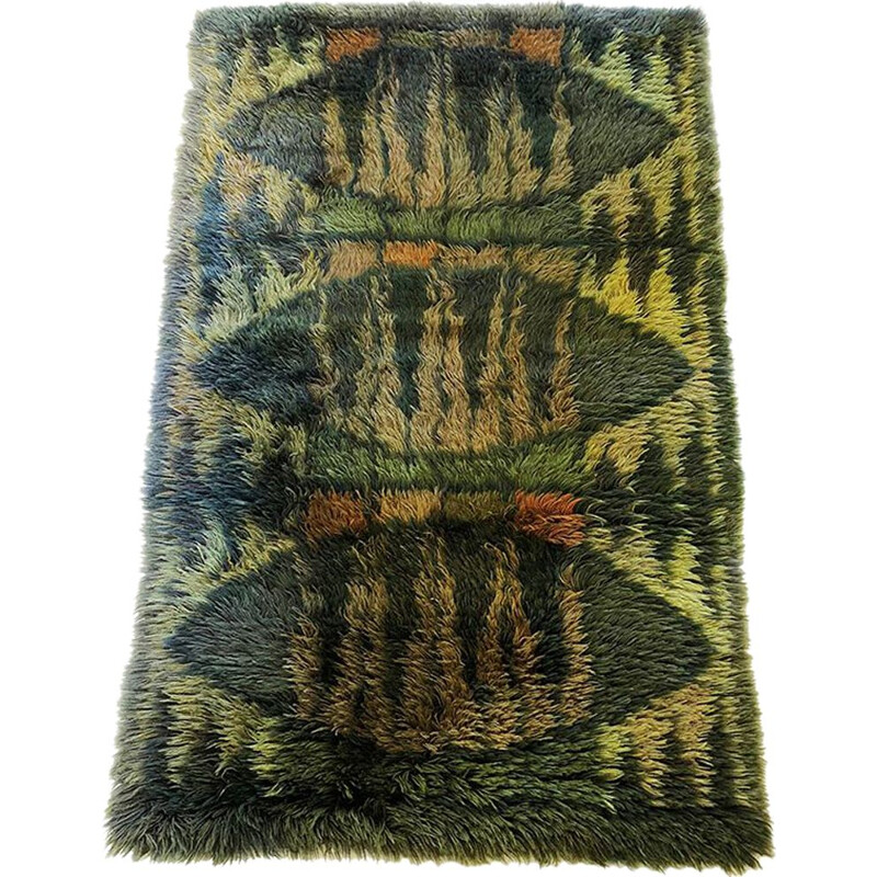Vintage Rug abstract 1960s
