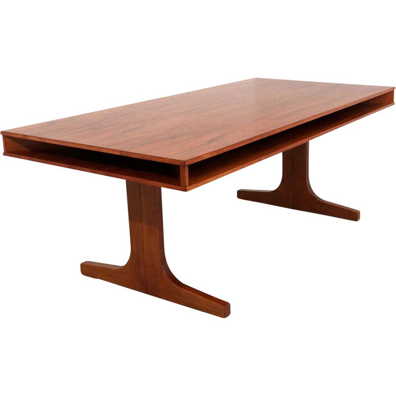 Vintage Conference Table in Rosewood Dutch 1970s