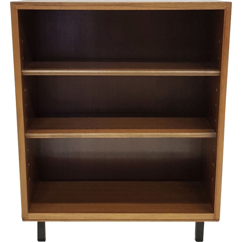 Vintage bookcase in walnut Scandinavian 1960s
