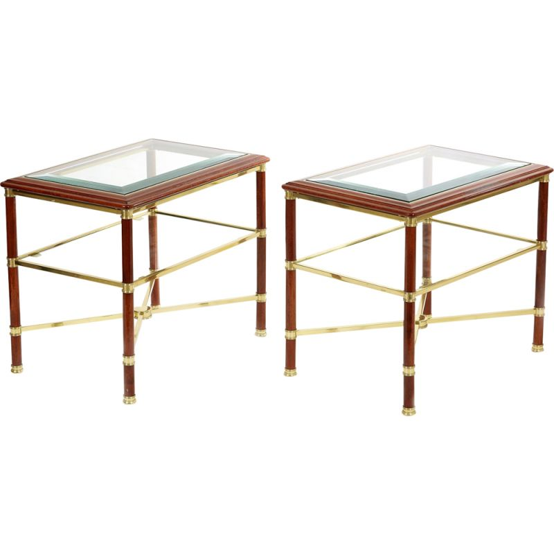 Pair of vintage side tables by Maison Jansen, 1970