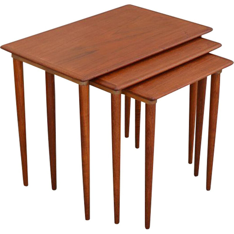 Vintage Scandinavian teak nest tables, 1960