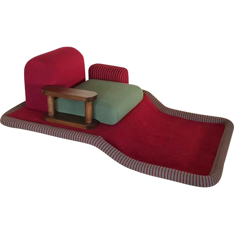 Vintage chaise lounge by Sottsass for Bedding Brevetti Italy 1970s
