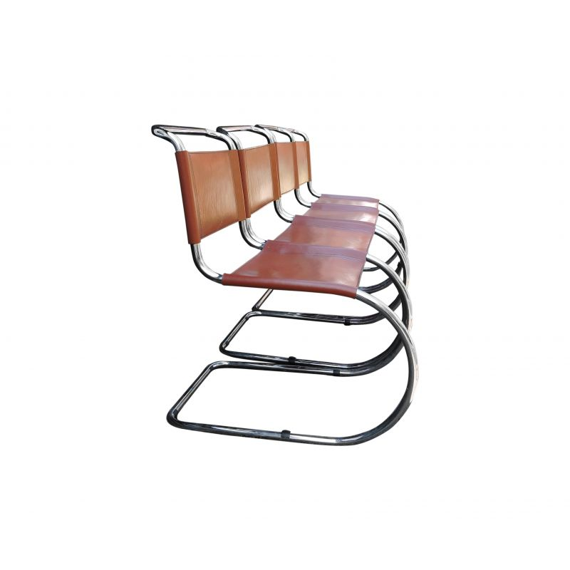 Brilliant Set Of 4 Vintage Orange Tan Mr Cantilever Chairs By Ludwig Mies Van Der Rohe Creativecarmelina Interior Chair Design Creativecarmelinacom